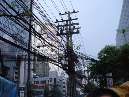 Bangkok Power lines photo