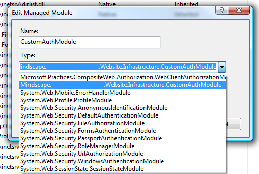 Add IIS7 HttpHandler Module