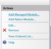 IIS7 Add Managed Module